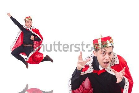 Rojo traje hacha gradiente diversión máscara Foto stock © Elnur