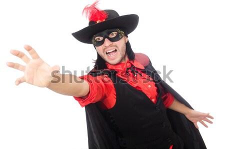 Menina preto vermelho carnaval terno isolado Foto stock © Elnur