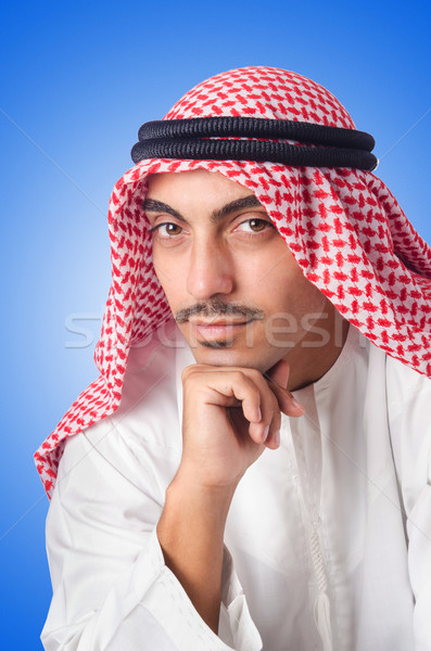 Young arab isolated on the white Stock photo © Elnur