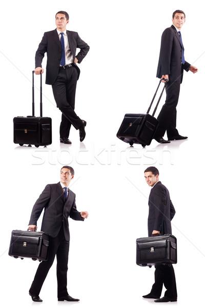 Jungen Geschäftsmann Geschäftsreise Business glücklich Reise Stock foto © Elnur