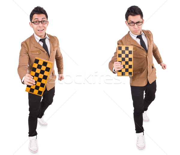 The funny chess player isolated on white Stock photo © Elnur