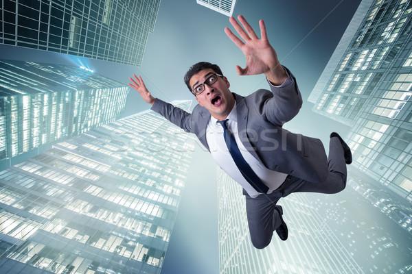 бизнесмен самоубийства кризис город костюм помочь Сток-фото © Elnur