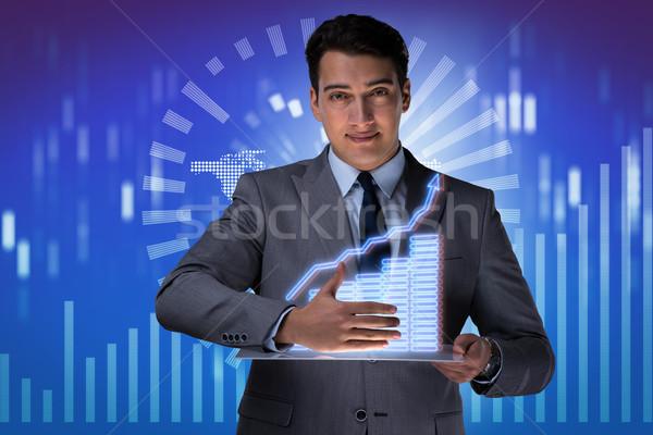 男 在庫 取引 ビジネスマン ビジネス 手 ストックフォト © Elnur