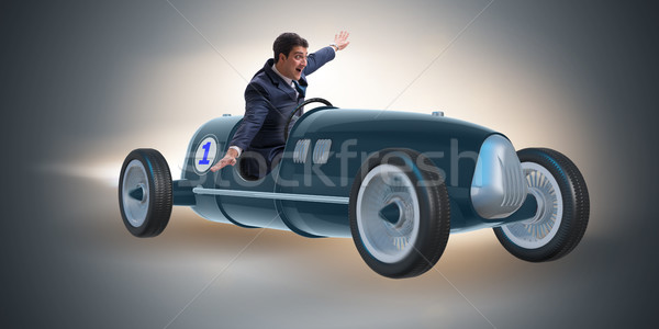 бизнесмен верховая езда Vintage родстер мотивация спорт Сток-фото © Elnur