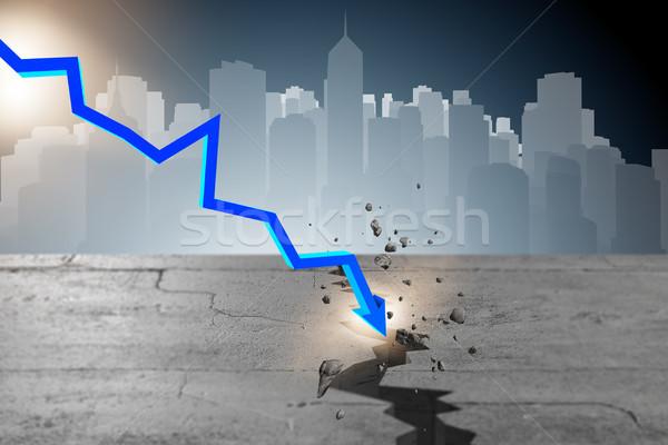 Grafico crisi finanziaria 3D mercato Foto d'archivio © Elnur