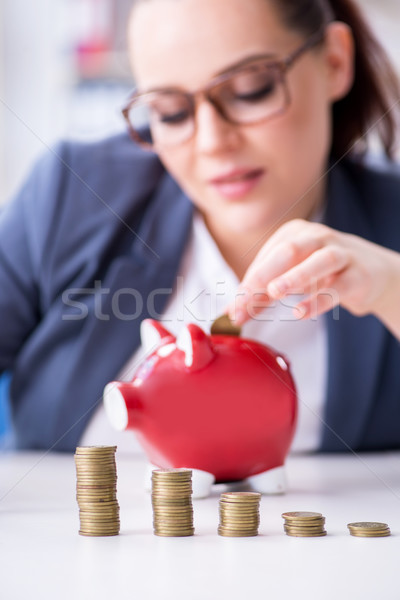 Businesswoman in pension savings concept Stock photo © Elnur
