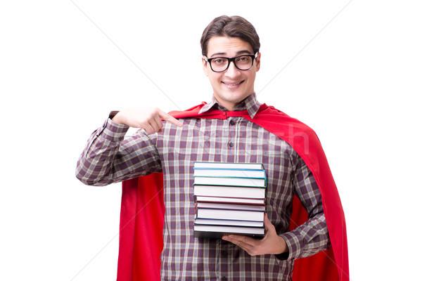 студент книгах изолированный белый школы Сток-фото © Elnur