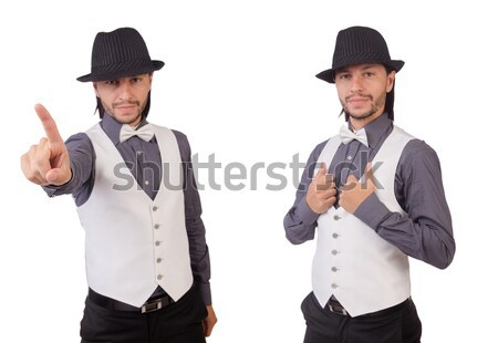 Man with gun isolated on the white Stock photo © Elnur
