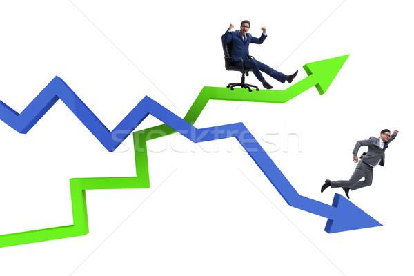 Empresário crise negócio homem feliz Foto stock © Elnur