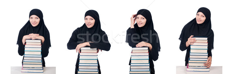 Young muslim female student with books Stock photo © Elnur