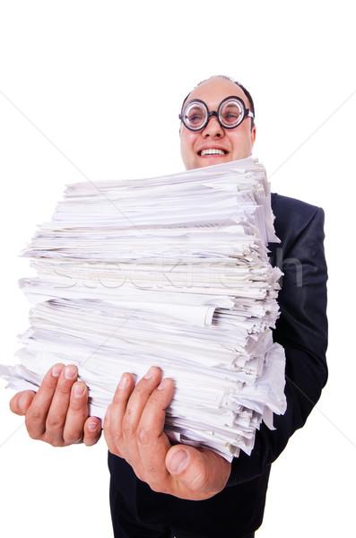 Engraçado homem branco negócio escritório Foto stock © Elnur