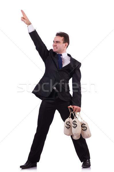 ストックフォト: 男 · お金 · 白人 · ビジネス · オフィス · 顔
