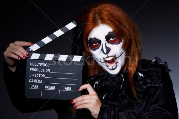 Szörny film tábla nő film éjszaka Stock fotó © Elnur