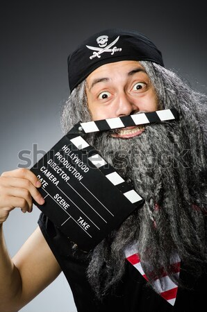 Monster with movie clapper board Stock photo © Elnur