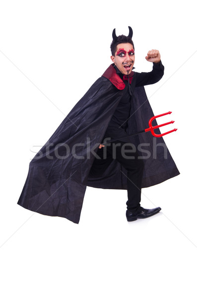 человека дьявол костюм Хэллоуин улыбка Sexy Сток-фото © Elnur