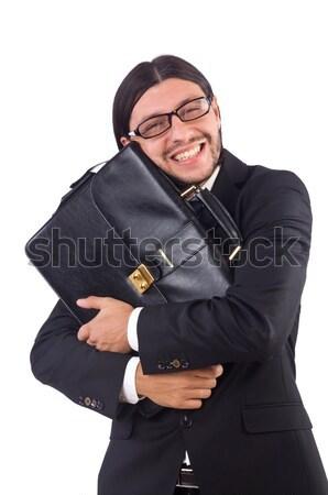 Nerd Geschäftsmann isoliert weiß Business Arbeit Stock foto © Elnur