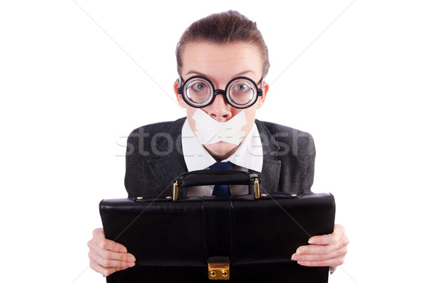 Woman businesswoman in censorship concept Stock photo © Elnur