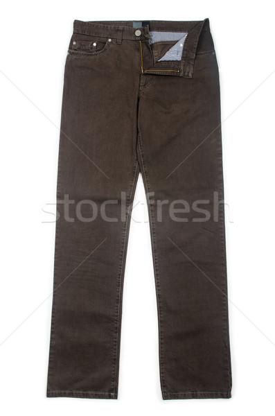 Pantaloni isolato bianco sfondo colore pulsante Foto d'archivio © Elnur