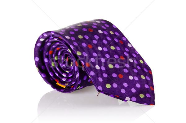 Elegant silk male tie ( necktie ) on white Stock photo © Elnur