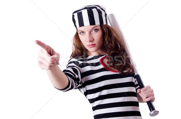 Criminal listrado uniforme lei polícia Foto stock © Elnur