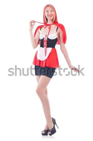 Donna marinaio costume marine sorriso moda Foto d'archivio © Elnur