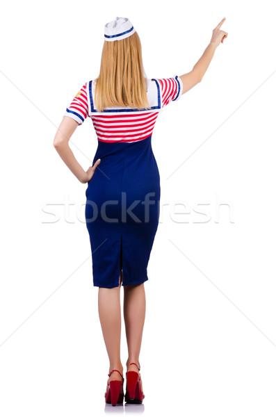 女性 船乗り 衣装 海洋 笑顔 ファッション ストックフォト © Elnur