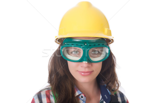 Woman wearing goggles in safety concept Stock photo © Elnur