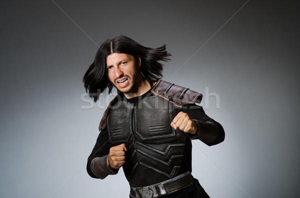 怒っ 戦士 暗い 男 スーツ 楽しい ストックフォト © Elnur