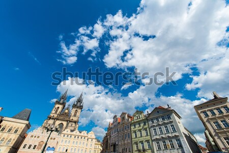 View of Prague on bright summer day Stock photo © Elnur