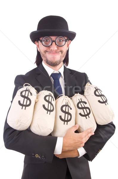 Férfi pénz izolált fehér férfi fehér üzlet Stock fotó © Elnur
