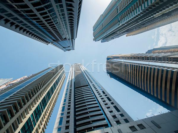 высокий Дубай марина Небоскребы бизнеса небе Сток-фото © Elnur