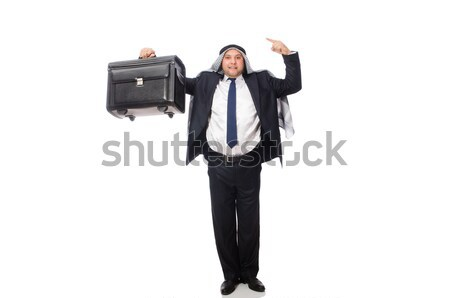 довольно сотрудник пистолет изолированный белый бизнеса Сток-фото © Elnur