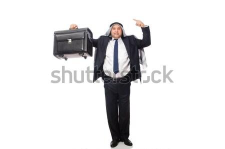 Bastante empregado arma curta isolado branco negócio Foto stock © Elnur