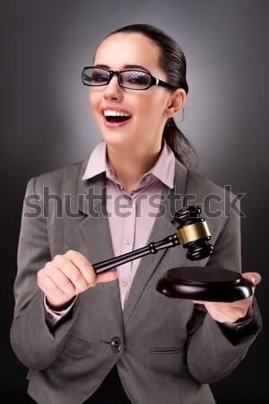 Femme suicide blanche affaires main travaux Photo stock © Elnur