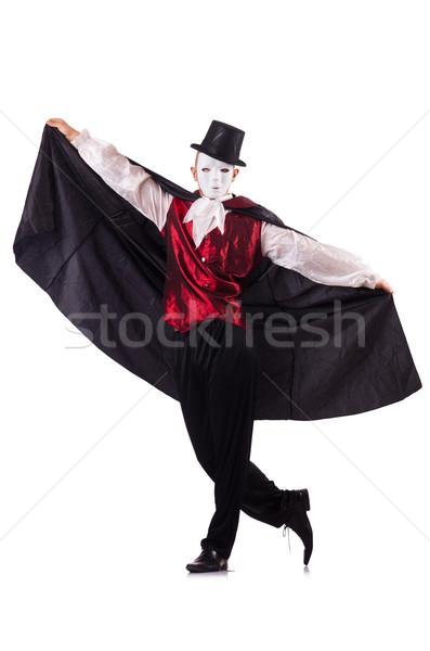 Człowiek magik odizolowany biały człowiek biały twarz Zdjęcia stock © Elnur