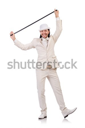 молодым человеком Hat изолированный белый человека волос Сток-фото © Elnur