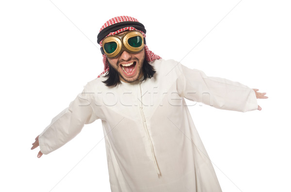 Arab man wearing aviator glasses isolated on white Stock photo © Elnur