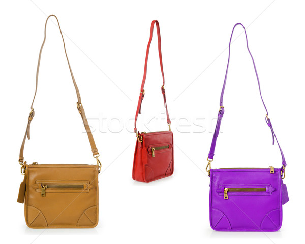 Set of woman bags isolated on white Stock photo © Elnur