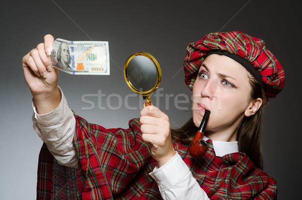 Vrouw traditioneel kleding meisje gelukkig Stockfoto © Elnur