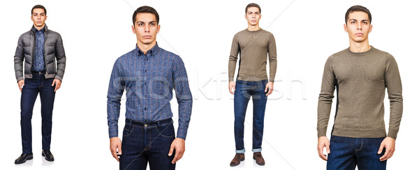 Young man in fashion concept isolated on white Stock photo © Elnur