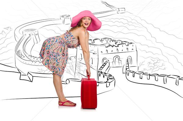 Młoda kobieta Chiny zobaczyć szczęśliwy Zdjęcia stock © Elnur