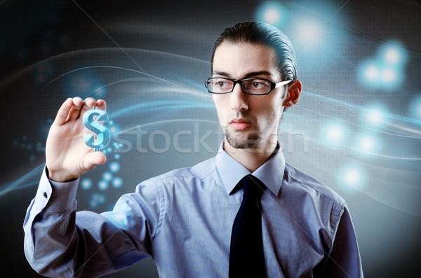 Man dollarteken financieren business gelukkig Stockfoto © Elnur