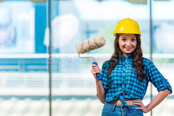 Nice рабочих улыбка строительство дизайна Сток-фото © Elnur