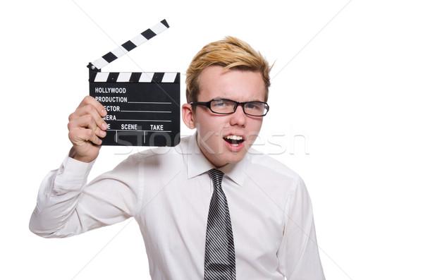 面白い 男 映画 ボード 白 映画 ストックフォト © Elnur