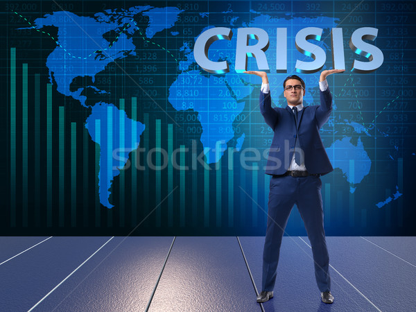 The businessman in crisis business concept Stock photo © Elnur