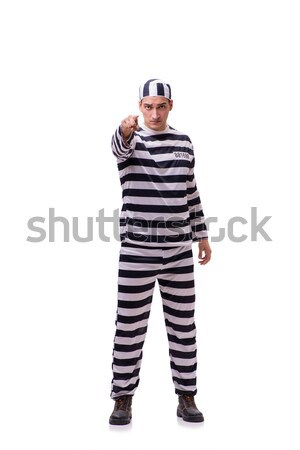 The man prisoner isolated on white background Stock photo © Elnur