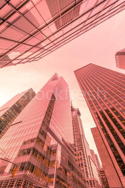 Nuevos rascacielos calle nivel oficina ciudad Foto stock © Elnur