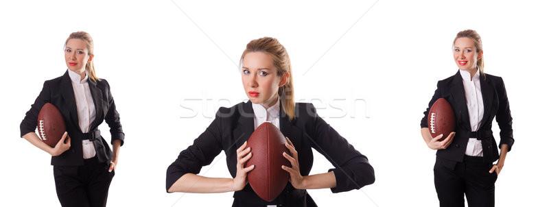 служба сотрудник мяч для регби изолированный белый бизнеса Сток-фото © Elnur