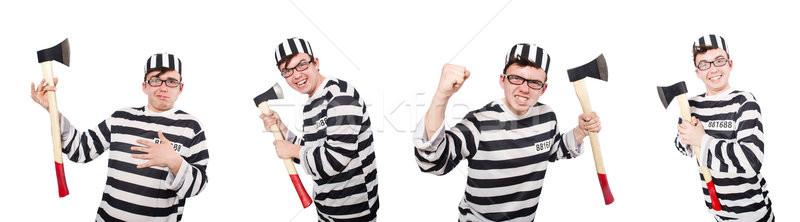 Vicces börtön bennlakó férfi háttér törvény Stock fotó © Elnur
