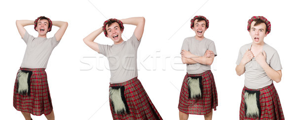 Funny scotsman isolated on white Stock photo © Elnur